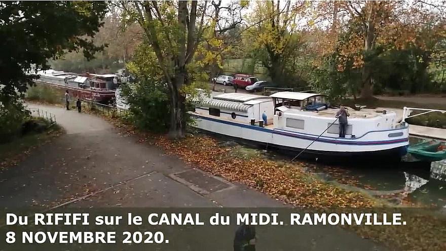Du RIFIFI sur le CANAL du MIDI. RAMONVILLE. Le 8 NOVEMBRE 2020.