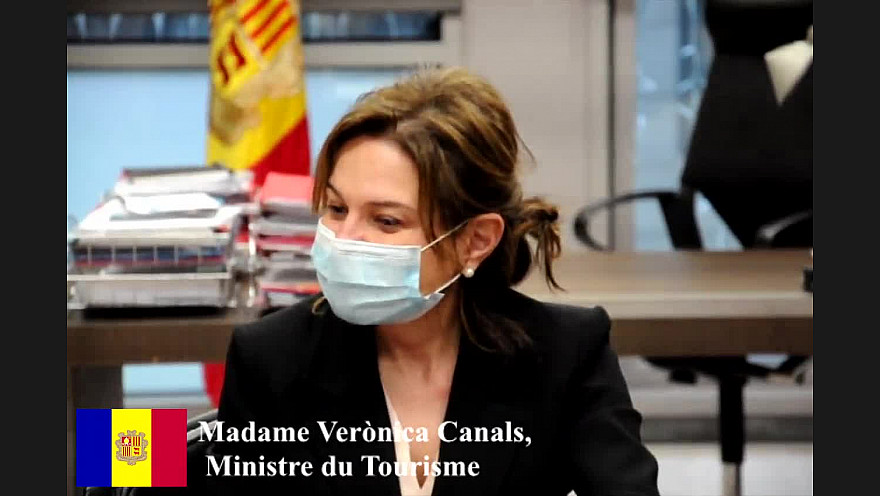 Interview de Mme la Ministre du Tourisme Véronica CANALS. GOVERN d'ANDORRA. ANDORRA la VIELLE. CORONA/COVID19.